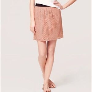 LOFT Eyelet Skirt in Ballerina Pink (sz 6P)